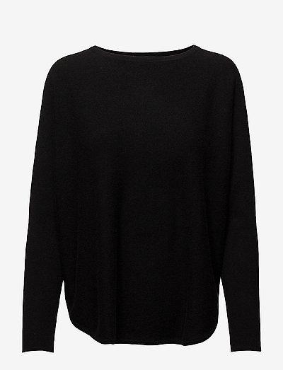 Curved Sweater - trøjer - black