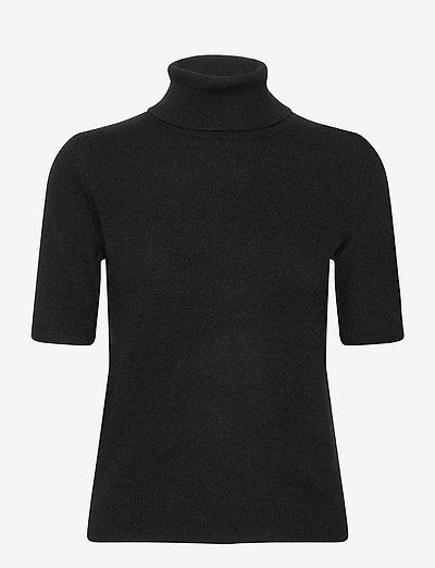 Turtleneck T-shirt - strikkede toppe - black