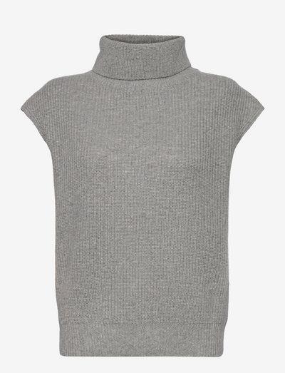 Polo Vest - strikveste - light grey