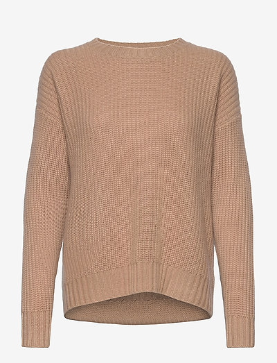 Chunky Knit Rib Sweater - jumpers - toffee