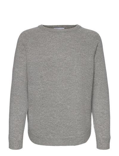 Raglan Curved Sweater - jumpers - light grey