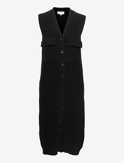 Ribbed Pocket Dress - everyday dresses - black