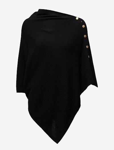 Poncho Gold Buttons - ponchoer og kapper - black