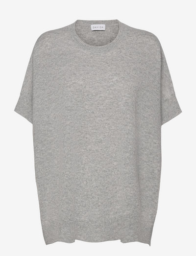 O-neck Poncho Vest - ponchos & capes - light grey
