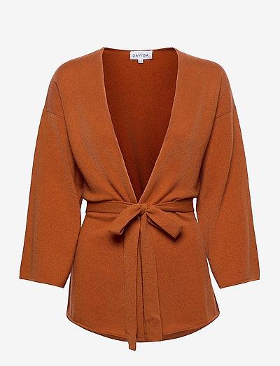 Kimono - cardigans - dark rust