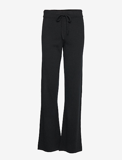 Pants - wide leg trousers - black