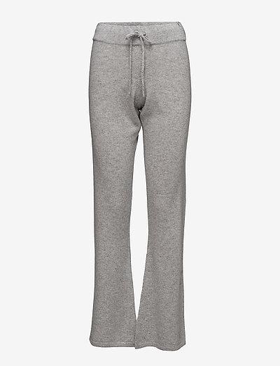 Pants - bukser med brede ben - light grey