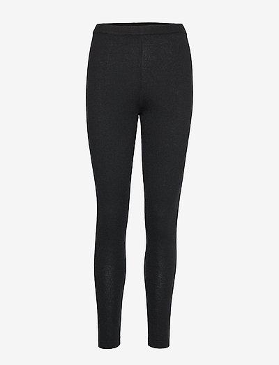Panel Leggings - leggings - black