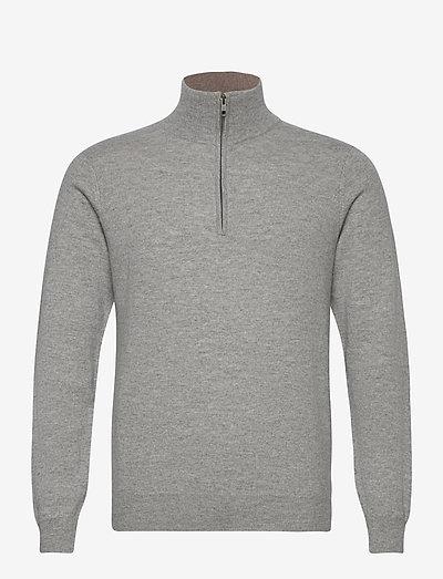 Man Half Zip - half zip - light grey