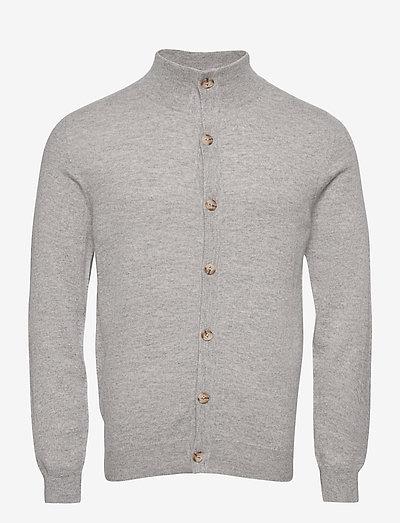 Man Cardigan Buttons - basic-strickmode - light grey