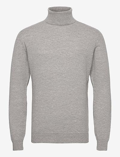 Man Turtleneck - basic-strickmode - light grey