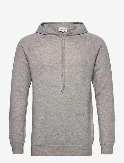 Man Front Pocket Hoodie - kapuzenpullover - light grey