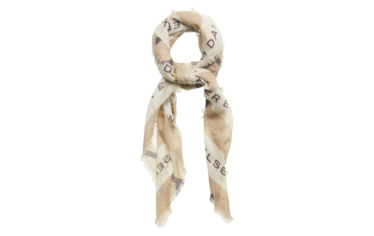 DAY et Day Deluxe Wild Logo scarf Big - TRAVERTINE