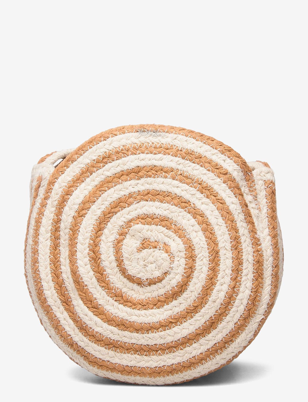 Day Et Straw Stripe Cb - Axelremsväskor Camel Beige