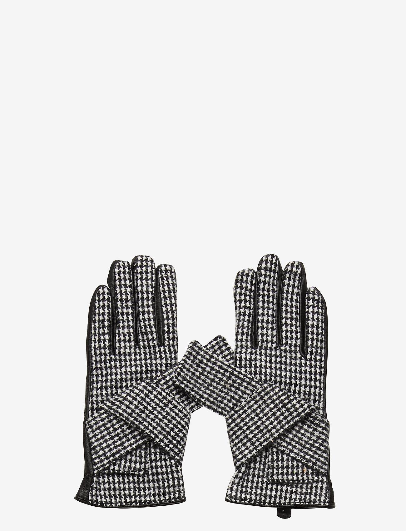 DAY et - Day Glove Check w Bow - handschoenen - black - 0