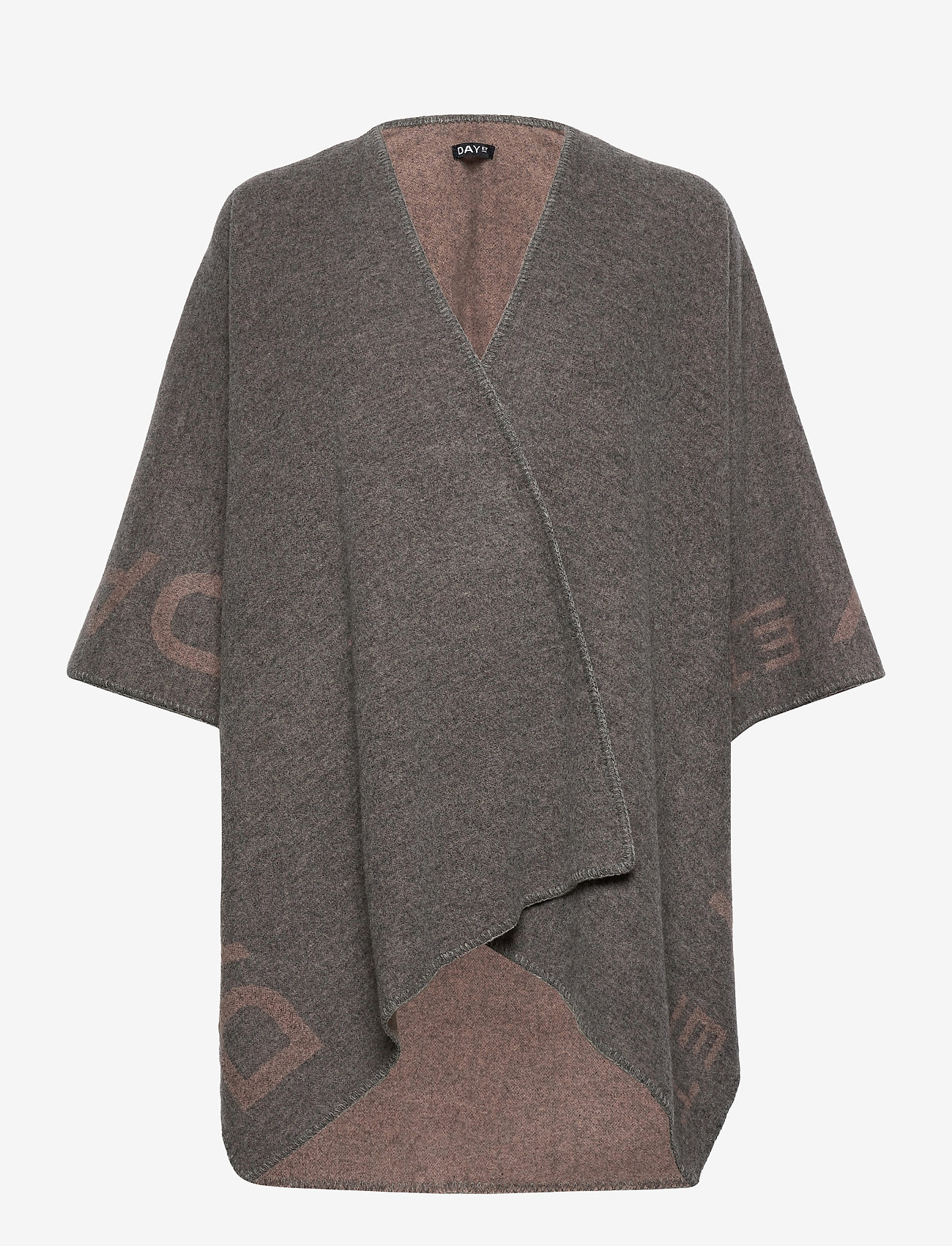 DAY et - Day ET Logo Poncho - ponchos en capes - forged iron grey - 0