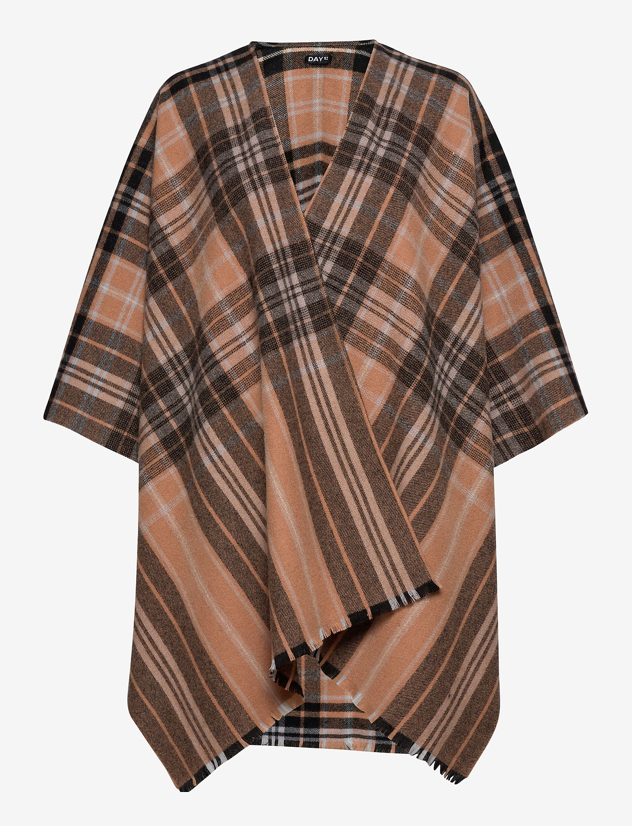 DAY et - Day Check Text Woven Poncho - ponchos en capes - lion brown - 0