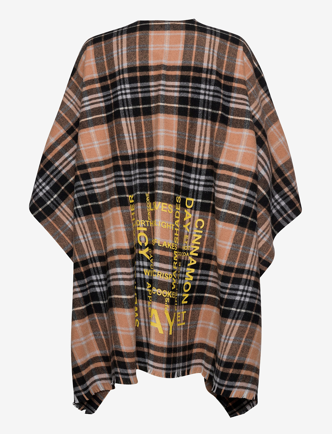 DAY et - Day Check Text Woven Poncho - ponchos en capes - lion brown - 1