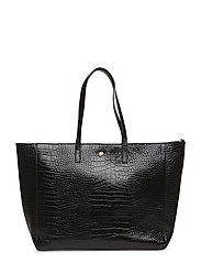 Day Must Croco Shopper - BLACK