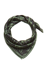 Day Silk Art Deco scarf mini - BLACK FOREST