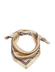 Day Silk Logo ET scarf mini - TRAVERTINE