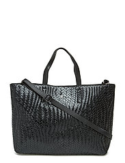Day Plaiting Tote - BLACK