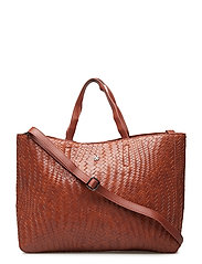 Day Plaiting Tote - COGNAC