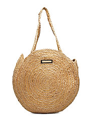 Day Straw Round Bag - NATURAL