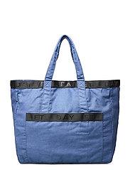 Day Denim Logo Shopper - VICTORIA BLUE