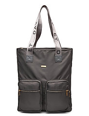Day Logo Band Tone Tote - PAVEMENT