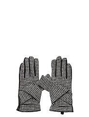 Day Glove Check w Bow - BLACK