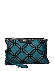 Day Gweneth F Octagon Clutch - DEEP TEAL GREEN