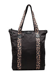 Day Exlusive Leo Strap Tote Bags Shoppers Casual Shoppers Svart DAY ET