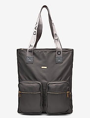 DAY et - Day Logo Band Tone Tote - casual shoppers - pavement - 0