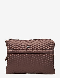 Day Q Chewron Purse - DARK TAUPE