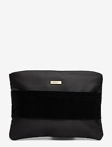 Day Velvet Band Clutch - clutches - black
