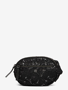 Day Shimmer Oval Bum Bag - BLACK