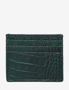 Day Card Croco - card holders - emerald green