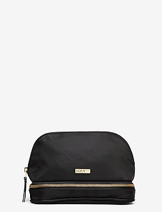 Day Double Zip Cosmetic Extra - BLACK