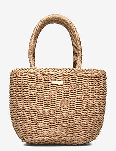 Day Beach Basket S - top handle - cement