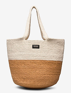 Day Blocking Cord Bag - casual shoppers - camel beige