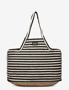 Day Straw Stripe Shopper - casual shoppers - black
