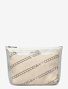 Day Canvas Transparent Pouch - toilettasker - moonlight beige