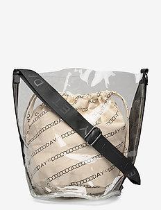 Day Canvas Transparent Bucket - bucket bags - moonlight beige