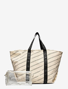 Day Canvas Transparent Shopper - casual shoppers - moonlight beige