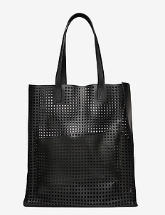 Day Cube Perforation Tote - fashion shoppers - black