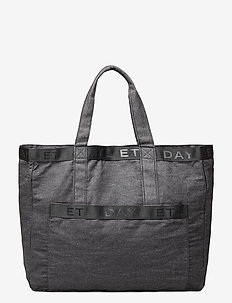 Day Denim Logo Shopper - casual shoppers - omphalodes blue
