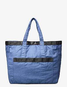 Day Denim Logo Shopper - casual shoppers - victoria blue