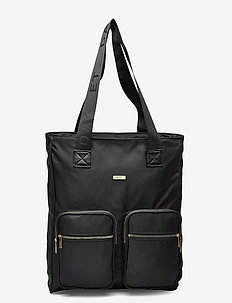 Day Logo Band Tone Tote - casual shoppers - black