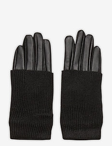 Day Glove Leather w Knit - rękawiczki - black